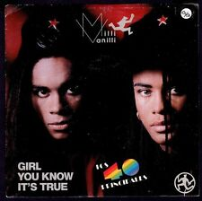 "MILLI VANILLI - SPAIN 7"" ARIOLA 1988 - GIRL YOU KNOW IT'S TRUE - SINGLE 45 RPM"
