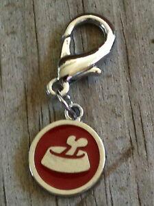 Top Quality Red Circle Dog Food Dish Enameled Dog Collar Charm / Zipper pull