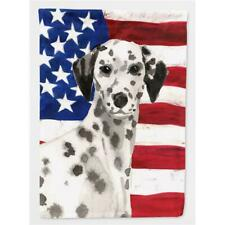 Carolines Treasures BB9380CHF Dalmatian Patriotic Flag Canvas House Size
