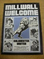 14/08/1976 Millwall v Colchester United [Football League Cup] (Creased, Team Cha