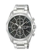 Runde Seiko Solar Armbanduhren mit Chronograph