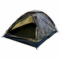 Mil-Tec 2 Person Igloo Tent 'IGLU SUPER' For Festival Camping Flecktarn Camo