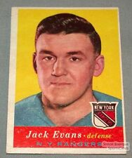 1957-58 Topps Hockey Card  #55 Jack Evans