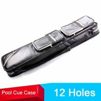High Quality Soft Pool Cue Case 1/2 Pool Billiard Cues Cases 12 Holes Leather