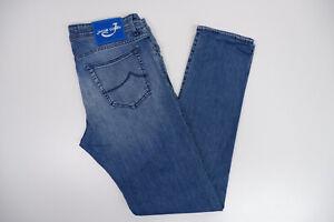 """Jacob Cohen 688C Mens Slim Fit Jeans, W35"""" L32"""" Stonewash Blue, immaculate"""