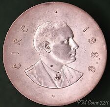 1966 Ireland Eire Pearse Easter Uprising 10 Shilling Silver 800 coin *[7211]