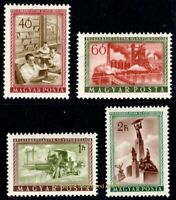 EBS Hungary 1955 - 10th Anniversary Soviet Occupation - Michel 1417-1420 MNH**