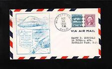 Airship Zeppelin USS Macon US Navy San Francisco Greets Moffett 1933 Cover z7