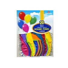 palloncini tondi colori misti confezione da 20 pz. - balloon round large