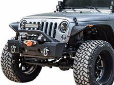 Havoc Offroad Metal Masher Jeep JK Wrangler Stubby Front Bumper w Bull Bar 07-17