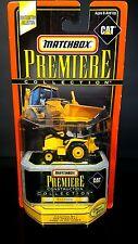 Matchbox 1998 Premiere CAT Caterpillar Backhoe functioning rubber tires Limited