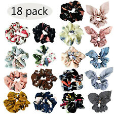 18pcs Women's Hair Scrunchies Chiffon Flowers Elastic Hair Bands Hair Scrunchies