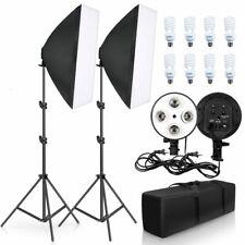 Photo Studio Lighting Set Video Photography Lamp Softbox E27 Holder 8pcs Bulb