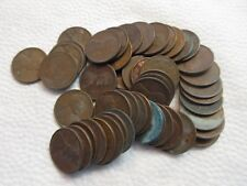 LOT #8H, ROLL OF 50 WHEAT PENNIES, POSSIBLE 1909-1958