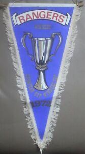 Rare Scotland Rangers European Cup Winners Cup Champions 1972 Football Pennant