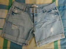 Juniors Decree denim shorts size 13 roll cuff/ flap pocket