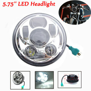 5.75'' 5-3/4 Motorcycle Headlight LED Hi-Lo Chrome for Harley Sportster Dyna