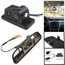 Waterproof Radar Car Reverse Backup Camera + LCD HD Color Rearview Mirror Screen