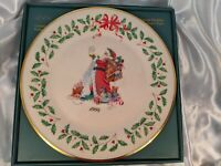 Lenox China 1994 Santa Claus 4th Annual Holiday Christmas Collector Plate w Box