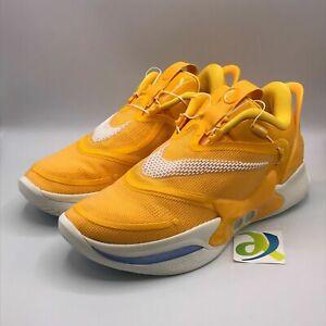 Nike Mens 10 Adapt BB 2 NBA 2K20 Winner Circle Gamer Yellow Shoes BQ5397-700