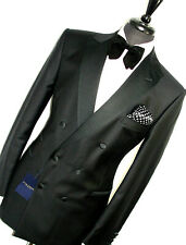 BNWT MENS GIEVES & HAWKES SAVILE ROW 1940S INSPIRED TUXEDO DINNER SUIT 42R W36
