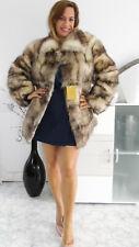 Pelzmantel Echt Dachs Pelz Fox Mink Fur coat Pelliccia Visone Fourrure Piel mex