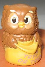 Owl Figurine Trick or Treat Halloween 1988 Hallmark Cards Molded Plastic