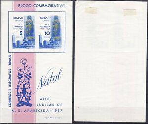 Brazil 1967 15 C. Christmas Mini-sheet Sc-1060a MLH - US Seller