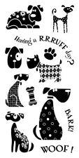 Inkadinkado Clear Stamps - Dogs - Having a RRRUFF day? Bark, Woof, Bone