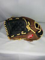 "Rawlings RBG36TBR 12.5"" Leather Zero Shock Baseball Glove LHT Left Hand Throw"
