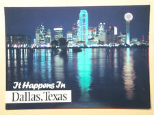 'It Happens in Dallas, Texas' Postcard 5 x 7 Heavy Card Stock 90's FREE SHIPPING