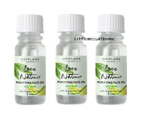 3x Oriflame Love Nature Purifying Face Oil Organic Tea Tree & Lime oily skin