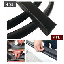 Universal 4M V Slot Rubber Edge Seal Weather Strip Weatherstrip Noise Aging