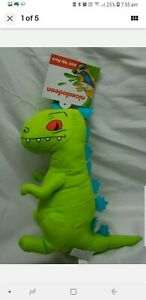 Nickelodeon 90s REPTAR FROM RUGRATS TOY BRAND NEW WITH TAGS RARE STUFFED TOY