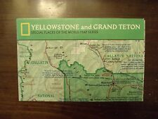 National Geographic Map Yellowstone And Grand Teton Special Places February 1989