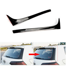 Pair Rear Window Spoiler Side Wing Trim Cover For VW Golf 7 MK7 MK 7.5 2014-18