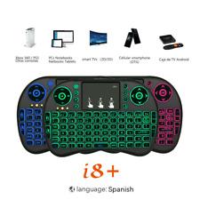 I8 Mini 2.4G Teclado Air Mouse 3 colores Retroiluminado TV Box Teclado Teclado