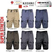 Pantaloncini da Lavoro Bermuda COFRA modello KEDIRI Elasticizzati Slim stretch