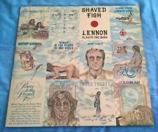 JOHN LENNON, SHAVED FISH, 1975 APPLE LABEL, POP,ROCK, SLEEVE, VINYL & INNER, EX.