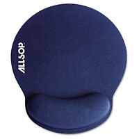 Allsop MousePad Pro Memory Foam Mouse Pad with Wrist Rest 9 x 10 x 1 Blue 30206