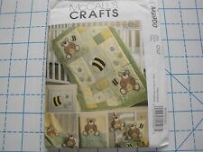 McCall's Craft Pattern #M5900-Quilt, Blanket, Pillow, Framed Bee, Toy & Bib