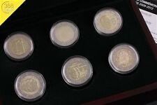 2 Euro Gedenkmünzensatz 6 x 2 Euro Luxemburg 2009 - 2012 PP