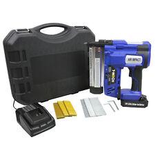 2in1 Nail Staple Gun Cordless Electric Heavy Duty Stapler Nailer Tacker 18V