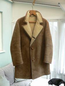 Vintage Aquascutum Men's Sheepskin Coat - 44 Reg
