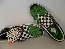 VANS Classic Slip-On Marvel Hulk Checkerboard Shoes Men's Size 6.5 New In Box
