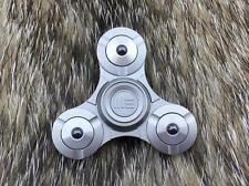 "WE Co Fidget Tri Spinner Gray Titanium Hand Top Ceramic Ball Bearing 2"" S02C"