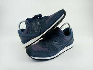 NEW BALANCE 696 Blue Suede White Running Shoes Sneakers Womens Size 9