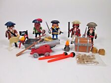 Playmobil Pirate Figure Lot w/ Weapons Cannon Row Boat + New  Loose