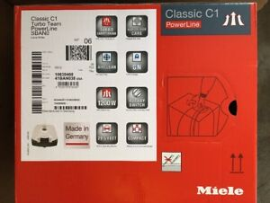 Miele Classic C1 Turbo Team Canister Vacuum, Lotus White, NIB SHIP FROM STORE