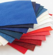 "15 - 9""X12"" Red White and Blue Colors Collection - Merino Wool blend Felt Sheets"